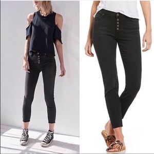 Free People Reagan Button Front Jeans